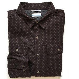 "COLUMBIA Long Sleeve Light Flannel ""TREE"" Shirt! M"